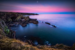 On the Edge (Augmented Reality Images (Getty Contributor)) Tags: canon cave cliffs colours dawn landscape leefilters longexposure morayfirth portknockie rocks scotland sunrise water waves