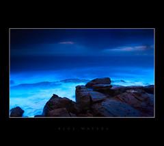 Blue waters (fischstarr) Tags: longexposure blue sea sky nikon rocks cloudy tripod stormy 1855mm filters wollongong steelworks 20sec explored 121s 121m cokingradnd d40x