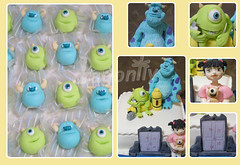 Monsters Inc Party / Festa Monstros S.A. (Dragonfly Doces) Tags: mike cake treats disney boo pixar bolo marzipan monsters sa sully doce inc monstros modelado marzip