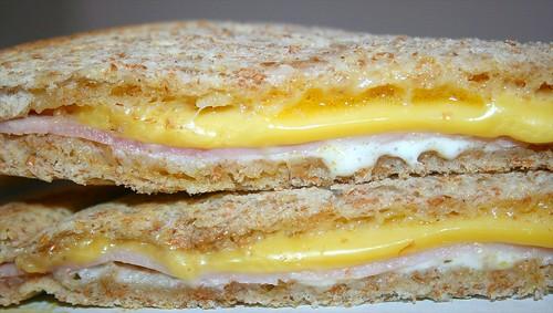 Ham Gouda Sandwich - CloseUp
