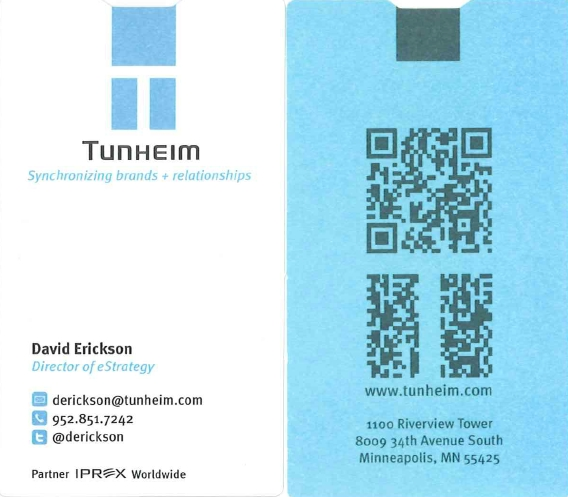 David Erickson's QR Code Business Card