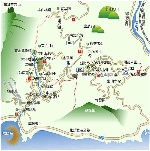金瓜石地圖