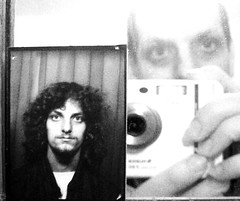 Curls Gone Wild (Kaptain Kobold) Tags: camera blackandwhite selfportrait reflection alan curves curls monthlyscavengerhunt 20 oldpicture myfave msh week46 52weeks kaptainkobold yourfave 23yearsago msh10072 msh1007