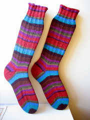 KF regia socks- My first Toe-Up!