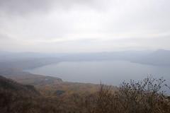 恵庭岳と支笏湖