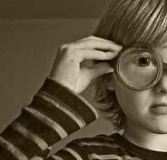 fly eye (lesbru) Tags: portrait blackandwhite eye glasses tint spectacles flyeye d40x dazzlingshots