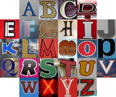 Outlined letters