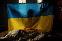 Ukraine Nationalist (Sakuto) Tags: blue yellow arms flag ukraine shape ukraina