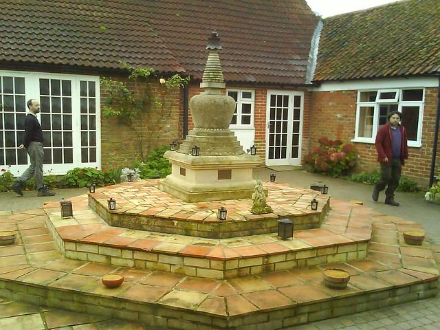 Padmaloka stupa courtyard