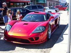 A Saleen S7 supercar... (Steve Brandon) Tags: auto girls boy people usa men car geotagged birmingham women automobile michigan candid unitedstatesofamerica detroit voiture suburb saleens7 supercar royaloak sportscar 2007 saleen redcar cellphonecamera s7 exoticcar woodwardavenue americancar   woodwarddreamcruise redcarnation