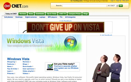 Give up on Vista