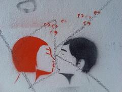 Kissing couple (Michelle Foocault) Tags: streetart berlin grafitti fhain