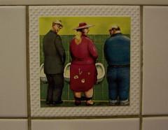 (trepelu) Tags: pee tile bathroom pub satire kacheln fliesen cartoon toilet toilette klo caricature pelikan pissing peeing karikatur gasthaus pinkeln bamberggermany mensurinals manfreddeix sandstr