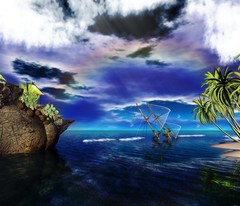 Lost souls in paradise (Iceykara) Tags: life souls lost landscaping sl shipwreck secondlife second smrgasbord groovygang platinumheartaward rezzeble iceykara