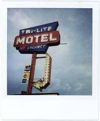 Wisconsin Dells WI motel (highwaygirl67) Tags: sign polaroid roadtrip 600 wi wisconsindells hotelmotel