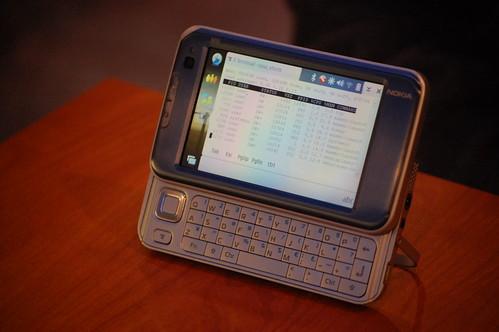 Nokia n810 running terminal
