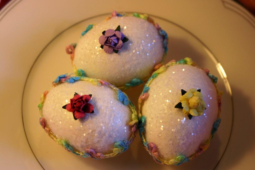 Faux Sugar Eggs - Close-up