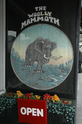 Woolly Mammoth Sign, The U District, Seattle, Washington USA
