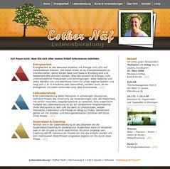 Web Design: website Esther Naef