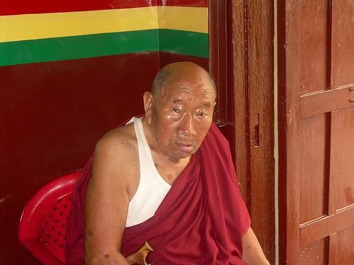 Monje budista en Kathmandú