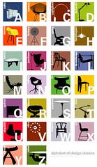 Designer's Alphabet (joel_pirela) Tags: modern poster design graphicdesign chair apartment nelson alphabet therapy bertoia noguchi eames georgenelson clocks saarinen tolomeo mcm emeco gric apartmenttheraphy blueantstudio