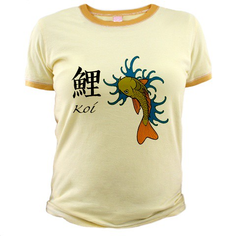 classic japanese koi tattoo shirt