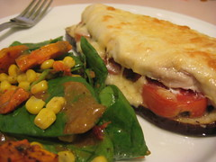 Chicken, Tomato & Eggplant Stacks