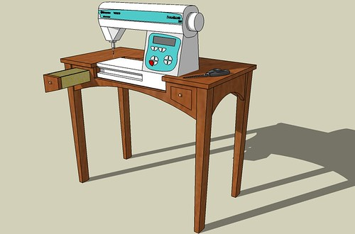 Superbe Sewing Table #1: Sketchup Model