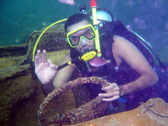 Are you ready (aZ-Saudi) Tags: blue sea fish water car steering deep diving structure arabic saudi arabia diver ksa alhasa arabin ِarabs