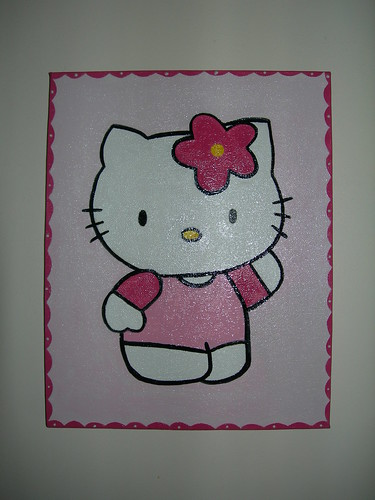 Hello kitty em Rosa