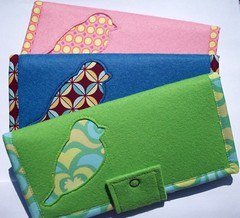 Felt wallet trio (L&B Accessories) Tags: handmade wallet felt wallets fabricwallets feltwallets