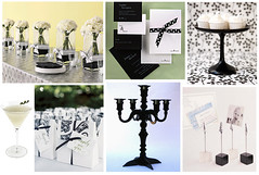 Black & White Birthday Party (Tastefully Entertaining) Tags: flowers white black dessert birthdayparty cocktail invitation centerpiece favor entertaining centerpieces placecardholders tastefullyentertaining