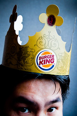 i am the burger king (poopoorama) Tags: selfportrait me work washington office nikon sigma burgerking danny crown year2 kirkland day24 d300 amazeentertainment fgr 365days flickrgrouproulette 1850mmf28exmacrohsm