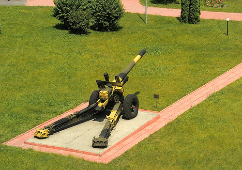 Gun on the acadamy lawn