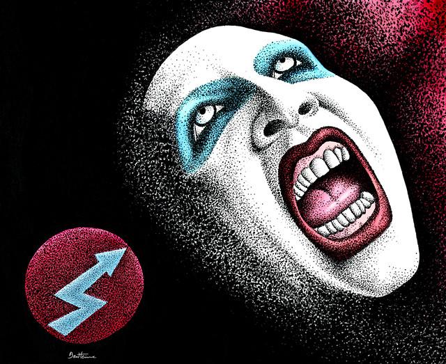 Marilyn Manson -1- by Ben Heine