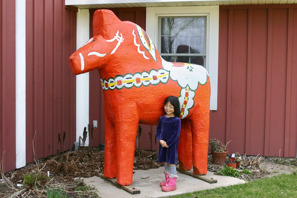 Olivia with Orange Dala Horse