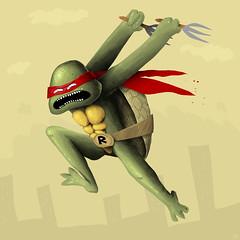 Raphael (a___k) Tags: illustration turtle ninja ak turtles mutant raphael tmnt teenage wopah