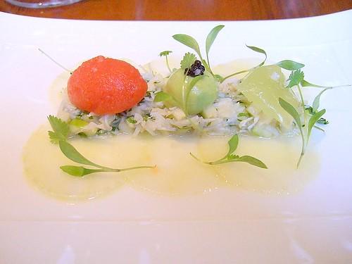 Maze - crab salad