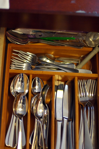 new flatware in drawer