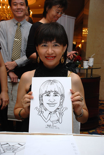 Caricature live sketching for Great Eastern Life D&D 2008 3