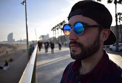 Barceloneta (marioalfaro67) Tags: barcelona barceloneta reflextion glasses w hotel sunset beach water light