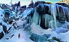 sentieri selvaggi (art & mountains) Tags: alpi alps valchiavenna bodengo muncech ghiaccio icefalls piolet freddo nord hiking winterscape natura silenzio contemplazione vision dream spirit scenario