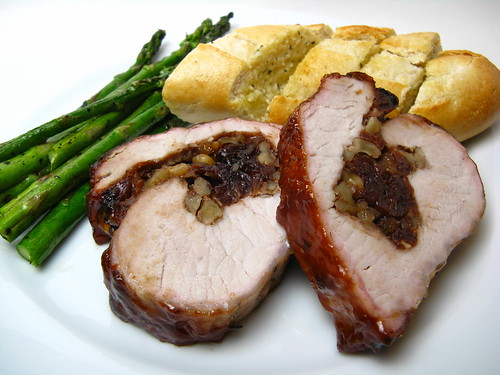 Cherry-stuffed Smoked Pork Loin