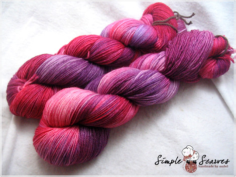 Handdyed Superwash Merino Yarn - Crimson Violet