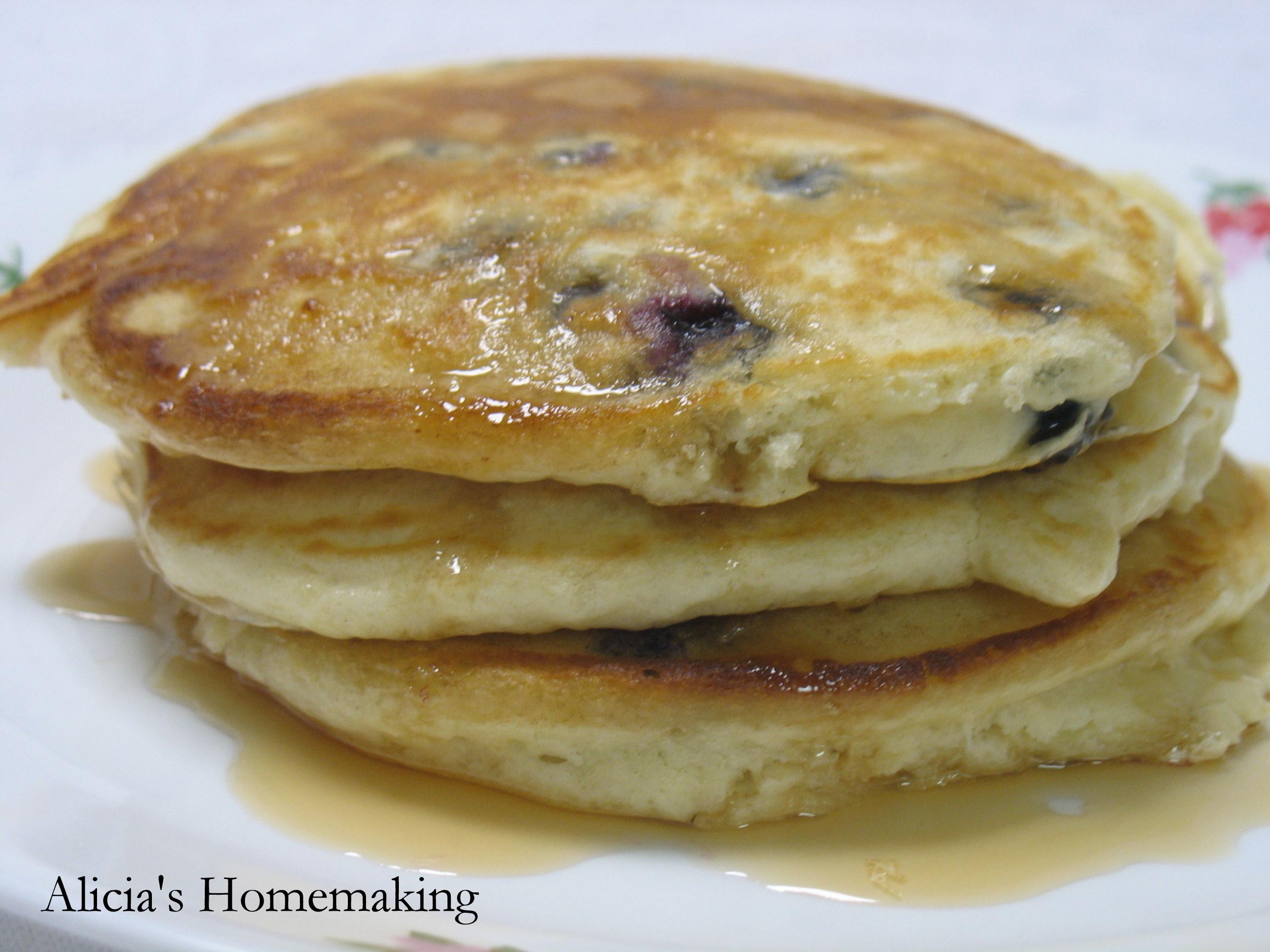 Blueberrry pancakes