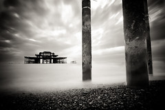 West Pier (Rob Webb.) Tags: longexposure blackandwhite brighton westpier nd30 canon50d tokina1116