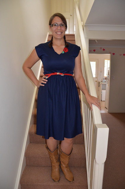 Navy Vintage Dress from London