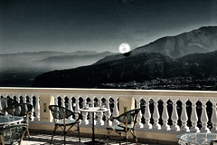 Sorrento, Otherwise Untitled (Rock and Robin Photography) Tags: italy moon night landscape balcony softness eerie handpainted infrared sorrento otherworldy pickyourpoison funkyfotography thechallengefactory