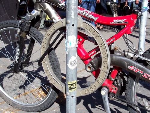 City of Toronto bicycle lock