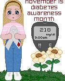 support ribbon awareness diabetes glucometer glucosemeter ©melissapadilla diabetec